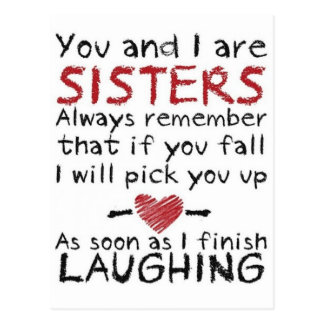 You and I are Sisters Design Postcard