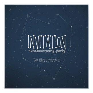 "You and I are written in the stars 5.25"" Square Invitation Card"