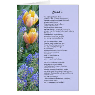 You and I...Friendship Card