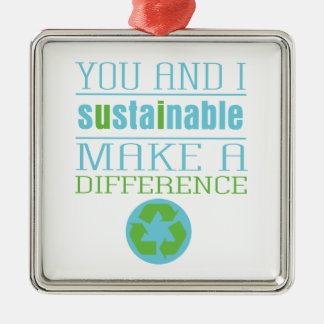 You and I Sustainable Metal Ornament