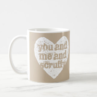 You and Me and Pet's Name Personalized Coffee Mug