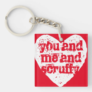 You and Me and Pet's Name Personalized Keychain