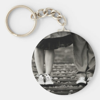 YOU AND ME BASIC ROUND BUTTON KEYCHAIN