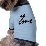 You and me camiseta de perrito