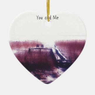 You and Me Ceramic Ornament