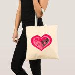 You And Me (Cute Cartoon Pigs) Tote Bag
