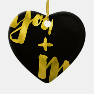 You and Me  - Gold Ceramic Ornament