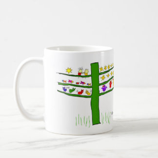 you and me, in a tree. coffee mug