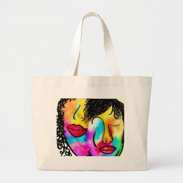 Wedding Themed You and Me Large Tote Bag