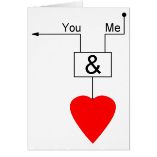 You And Me Love Nerd Edition Digital Logic Card