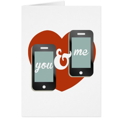 You and Me message Valentine Cards