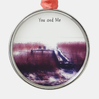 You and Me Metal Ornament
