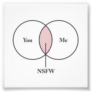 You and Me NSFW Venn Diagram Photo Print