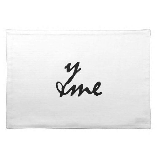 You and me place mat