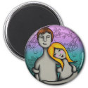 You and me, round magnet magnet