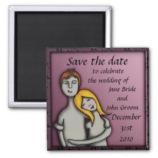 You and me, save the date magnet magnet