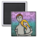 You and me, square magnet magnet