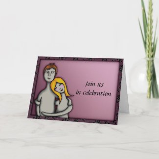 You and me, wedding invite card card