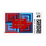You're Invited To A 4th Of July Picnic Postage Stamp
