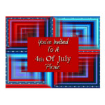 You're Invited To A 4th Of July Picnic Postcard