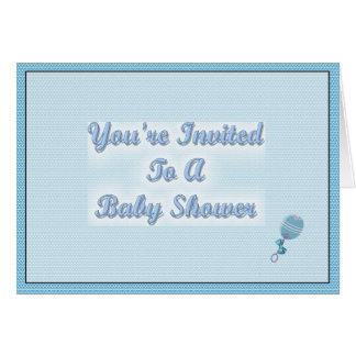You're Invited To A Baby Shower Card