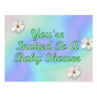 You're Invited To A Baby Shower Postcard