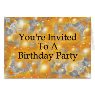 You're Invited To A Birthday Party Card