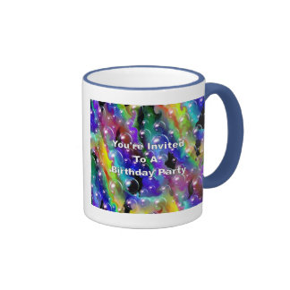 You're Invited To A Birthday Party Ringer Coffee Mug