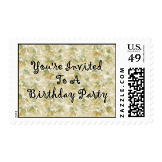 You're Invited To A Birthday Party Stamps