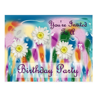You're Invited To A Birthday Party Postcard