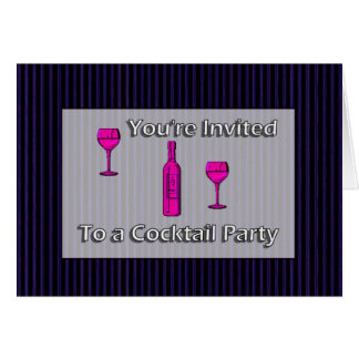 You're Invited To A Cocktail Party Card