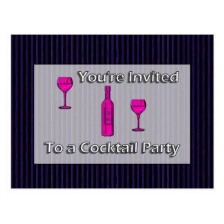 You're Invited To A Cocktail Party Postcard
