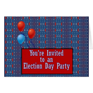 You're Invited to a Election Day Party Card