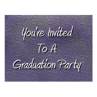 You're Invited To A Graduation Party Postcard