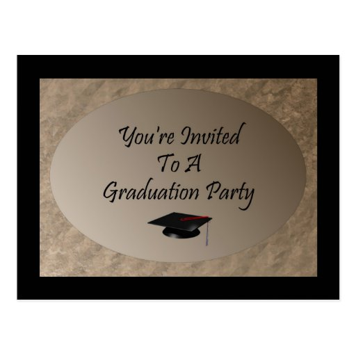 you u0026 39 re invited to a graduation party postcard