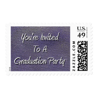 You're Invited To A Graduation Party Stamp