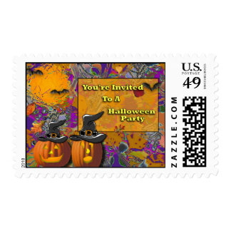You're Invited To A Halloween Party Postage