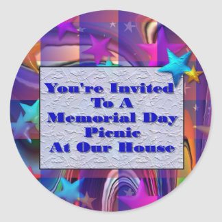You're Invited To A Memorial Day Picnic At Ou Stickers