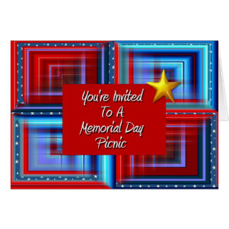 You're Invited To A Memorial Day Picnic Card