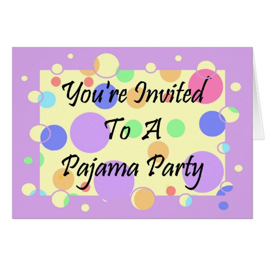 You're Invited To A Pajama Party Card