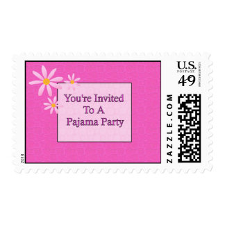 You're Invited To A Pajama Party Postage Stamp