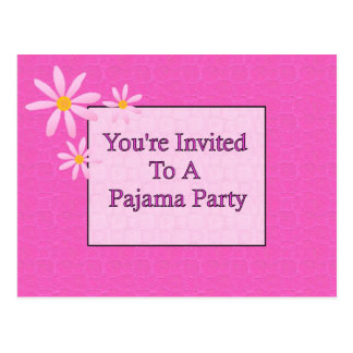 You're Invited To A Pajama Party Postcard