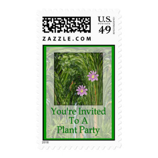 You're Invited To A Plant Party Postage Stamp
