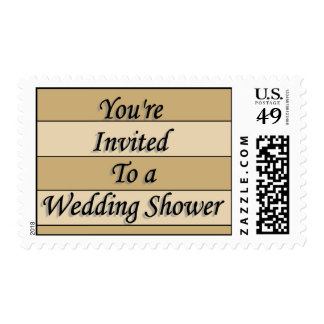 You're Invited To A Wedding Shower Stamp