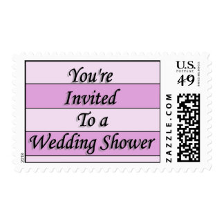 You're Invited To A Wedding Shower Postage