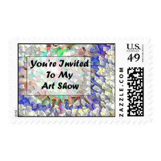 You're Invited To My Art Show Postage