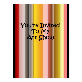 You're Invited To My Art Show Postcard
