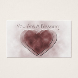 """You Are A Blessing"" Love Notes Business Card"