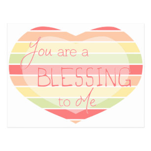 Blessing Valentines Day Postcards Zazzle