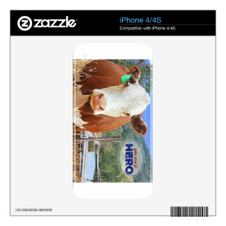 You are a Hero! Cow iPhone 4 Skins